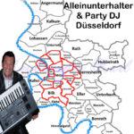 Alleinunterhalter und Party DJ Düsseldorf - Übersicht Karte Düsseldorf