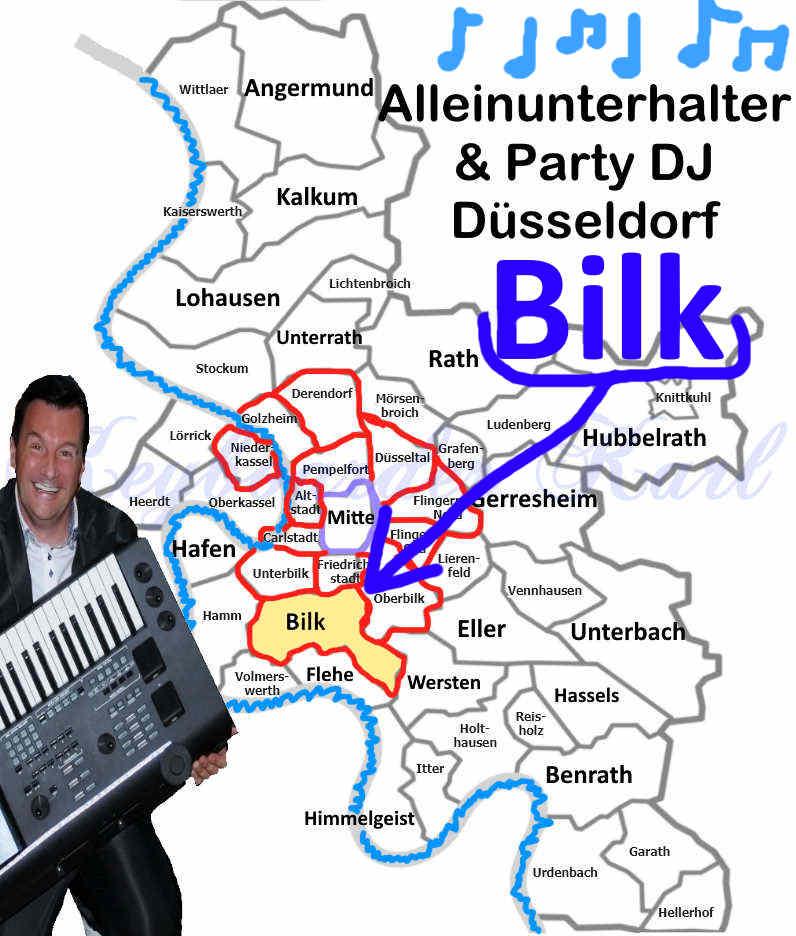Live Musik und DJ Düsseldorf Bilk - Alleinunterhalter Düsseldorf Bilk und DJ hat Termine frei